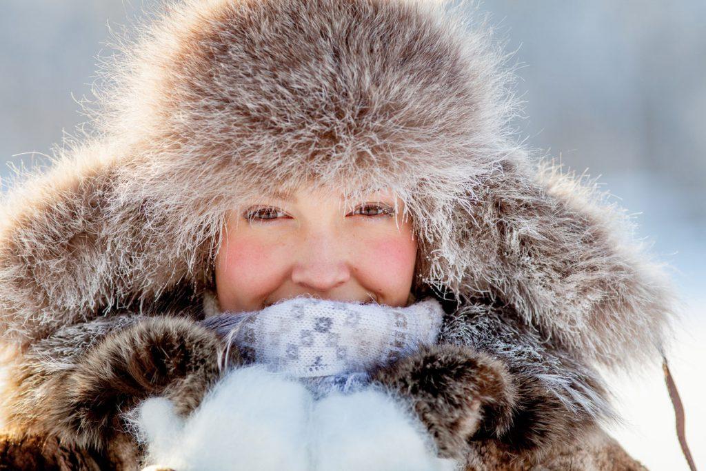 womans face cold
