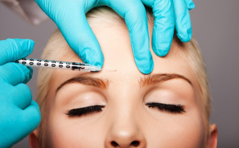 Botox injection between eyebrows