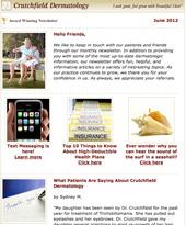 skin care newsletter