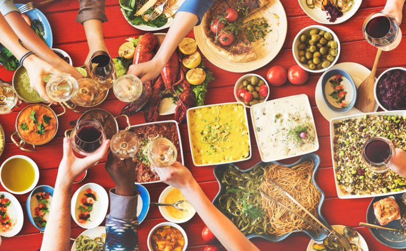 festive food table
