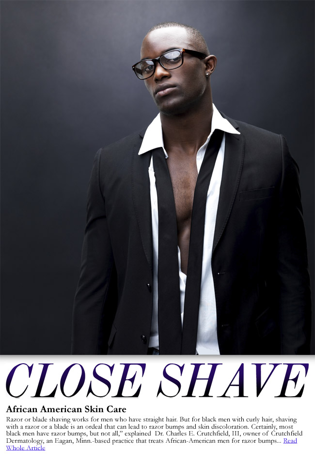 handsome black man shave