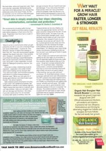 Black hairstyle magazine skin care