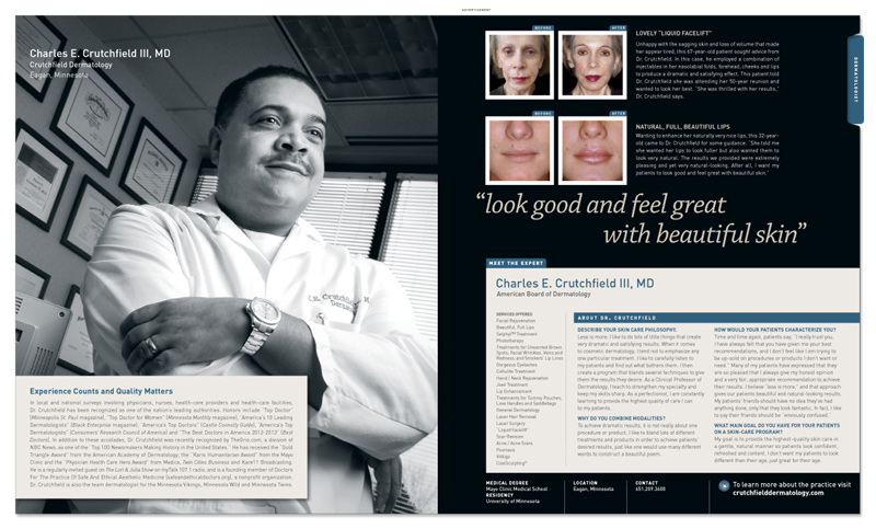 crutchfield in new beauty magazine