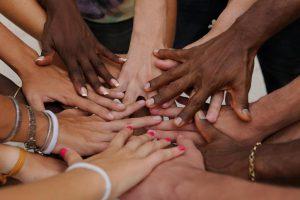 fingernails of many hands