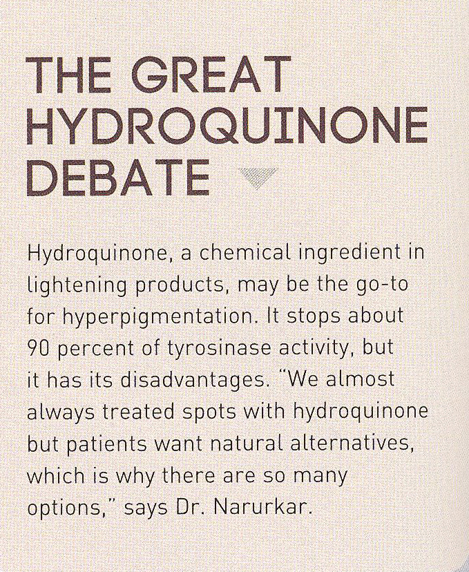 hydroquinone debate