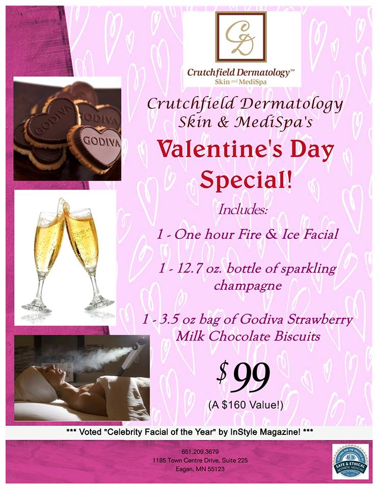 Crutchfield Dermatology Spa Valentines