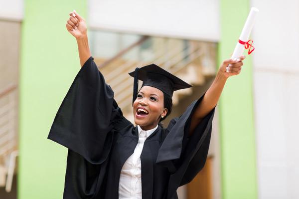 female african-american graduate