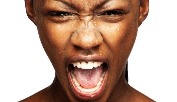 black woman scream