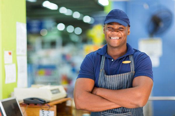 african american store clerk