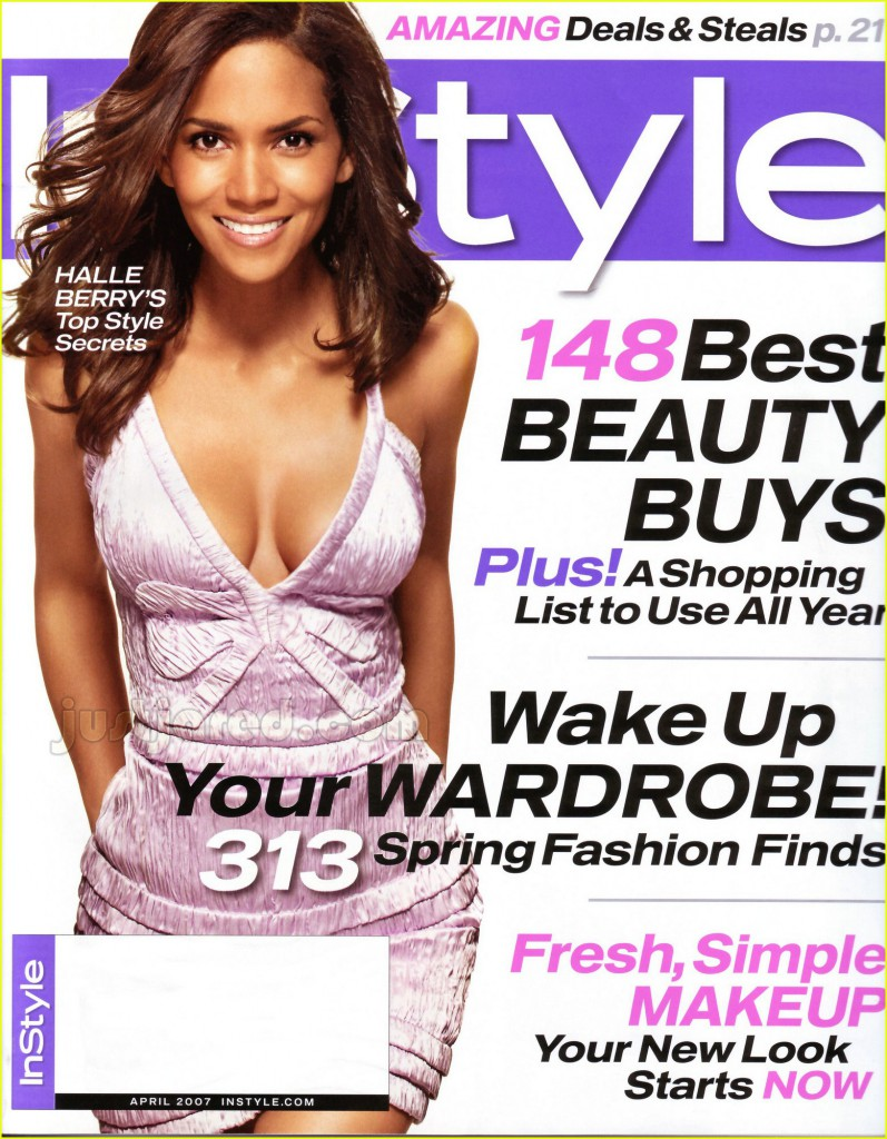 Halle Berry InStyle April 2007 with Charles Crutchfield
