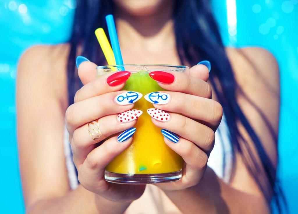 decorative summer fingernails