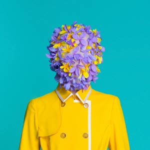 Flower head with yellow coat
