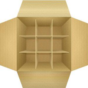 Christmas ornament box organizer idea