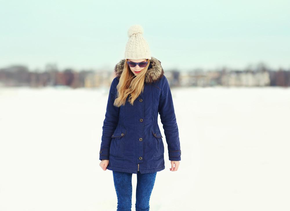 Woman in winter gear