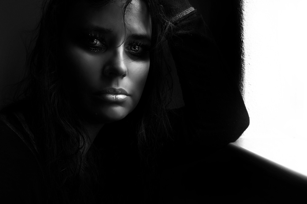 Moody dark portrait