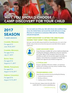 Summer Camp Discovery 2017 Flyer