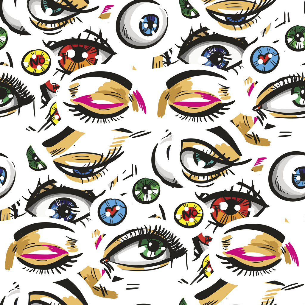 various eyes drawn