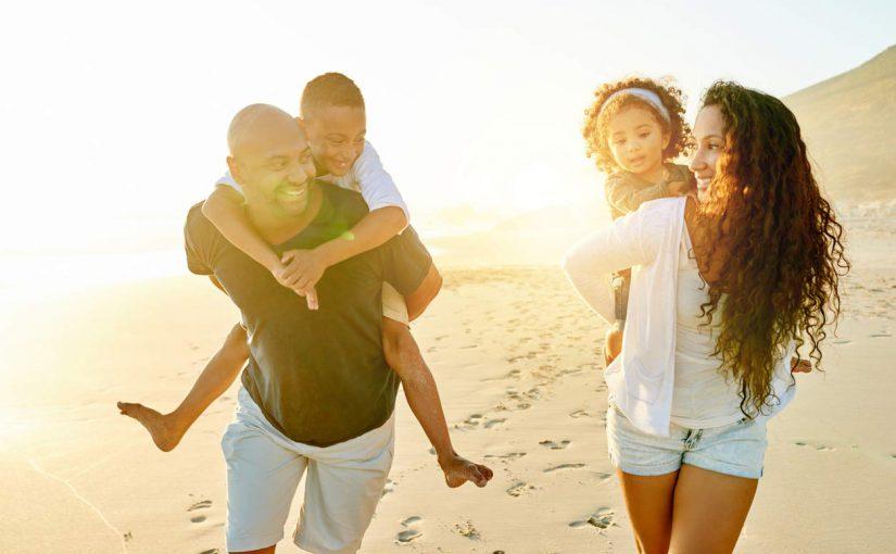 black family beach