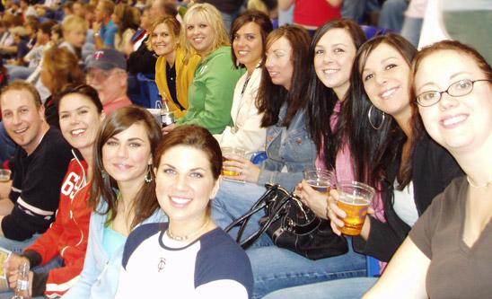 Crutchfield Dermatology staff at the Minnesota Twins Baseball Game