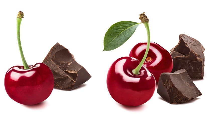 Cherries and chunks of chocolate