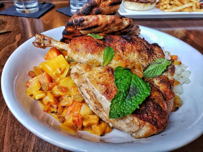 Curried Half Chicken