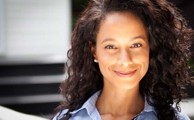 Black woman smileing