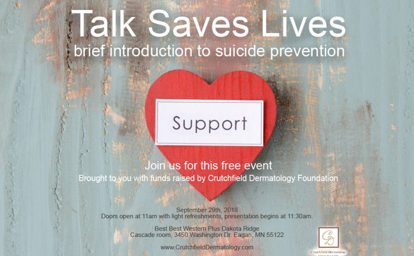 Event: Talk Saves Lives – brief introduction to suicide prevention