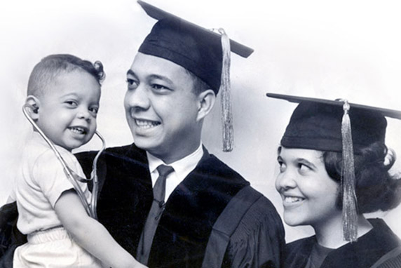 Dr Crutchfield with his Parents