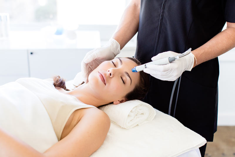 Hydrafacial spa relaxation