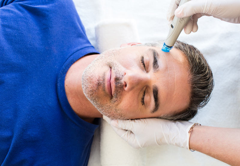 Mens hydrafacial spa treatment