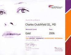 Botox Gold Award