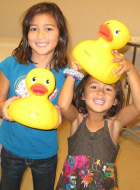 Children with Ducks